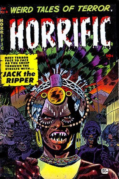 Cover for Horrific (Comic Media, 1952 series) #6