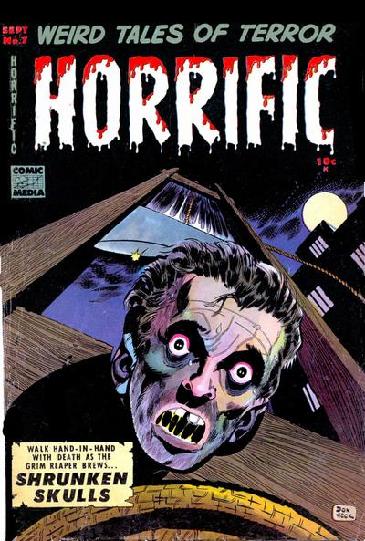 Cover for Horrific (Comic Media, 1952 series) #7