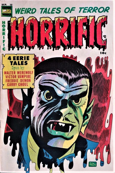 Cover for Horrific (Comic Media, 1952 series) #13
