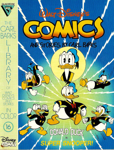 Cover for The Carl Barks Library of Walt Disney's Comics and Stories in Color (Gladstone, 1992 series) #16