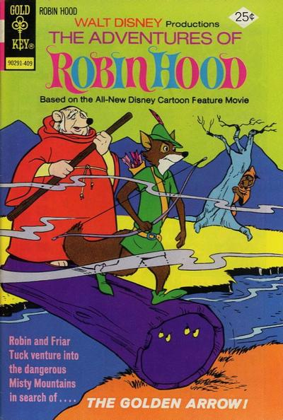 Cover for Walt Disney Productions The Adventures of Robin Hood (Western, 1974 series) #5 [Gold Key Variant]