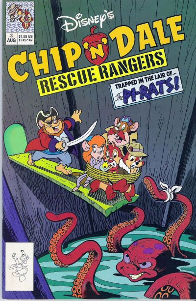 Cover for Chip 'n' Dale Rescue Rangers (Disney, 1990 series) #3 [Direct Edition]