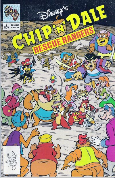 Cover for Chip 'n' Dale Rescue Rangers (Disney, 1990 series) #6