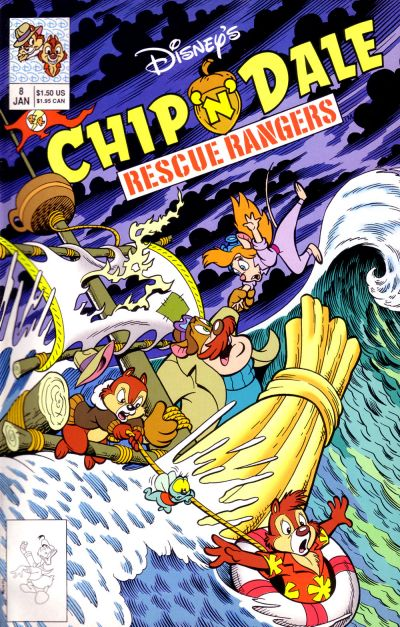 Cover for Chip 'n' Dale Rescue Rangers (Disney, 1990 series) #8
