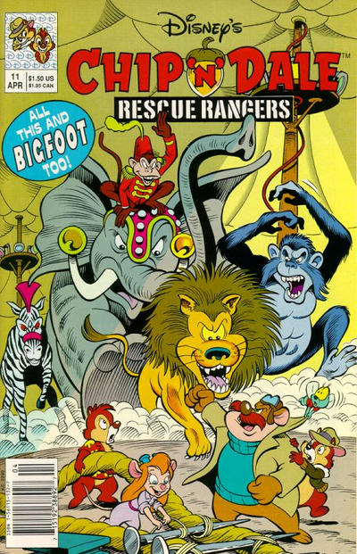 Cover for Chip 'n' Dale Rescue Rangers (Disney, 1990 series) #11 [Newsstand Edition]