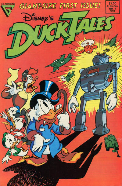 Cover for Disney's DuckTales (Gladstone, 1988 series) #1 [Newsstand]