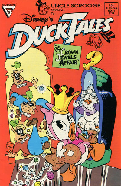 Cover for Disney's DuckTales (Gladstone, 1988 series) #4 [Newsstand]