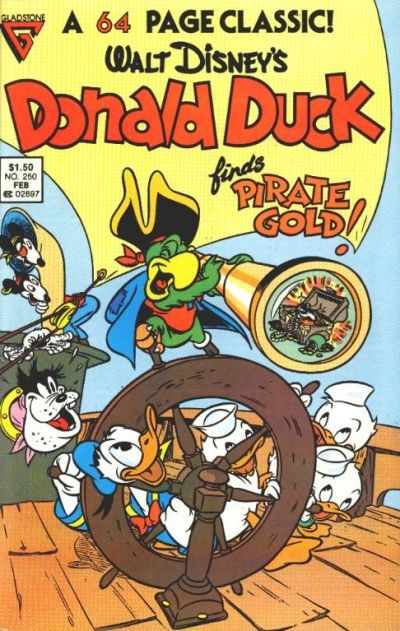 Cover for Donald Duck (Gladstone, 1986 series) #250 [Newsstand]