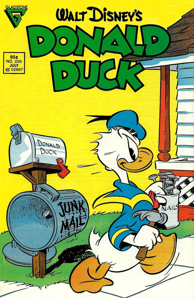 Cover for Donald Duck (Gladstone, 1986 series) #255 [Newsstand]