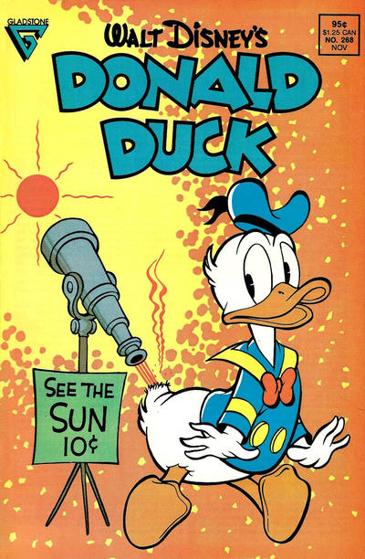 Cover for Donald Duck (Gladstone, 1986 series) #268 [Direct]