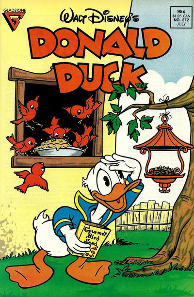 Cover for Donald Duck (Gladstone, 1986 series) #272 [Newsstand]