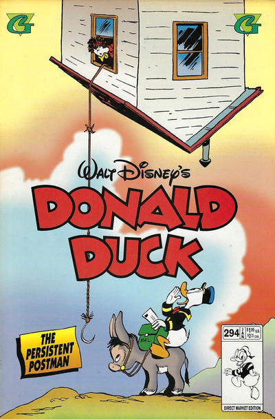 Cover for Donald Duck (Gladstone, 1986 series) #294