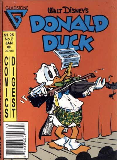 Cover for Donald Duck Comics Digest (Gladstone, 1986 series) #2 [Direct]
