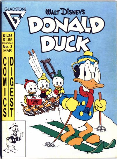 Cover for Donald Duck Comics Digest (Gladstone, 1986 series) #3