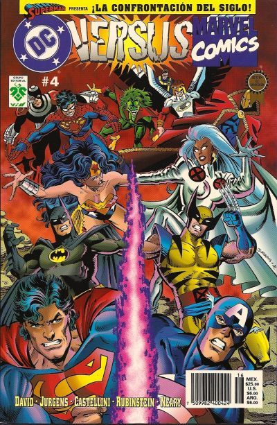 Cover for DC Versus Marvel / Marvel Versus DC (Grupo Editorial Vid, 1997 series) #4