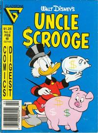 Cover Thumbnail for Uncle Scrooge Comics Digest (Gladstone, 1986 series) #2