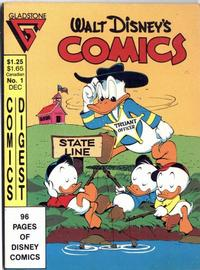 Cover Thumbnail for Walt Disney's Comics Digest (Gladstone, 1986 series) #1 [Direct edition]