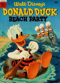 Cover Thumbnail for Walt Disney's Donald Duck Beach Party (Dell, 1954 series) #1