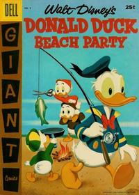 Cover Thumbnail for Walt Disney's Donald Duck Beach Party (Dell, 1954 series) #4