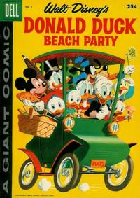 Cover Thumbnail for Walt Disney's Donald Duck Beach Party (Dell, 1954 series) #5