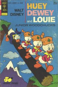Cover Thumbnail for Walt Disney Huey, Dewey and Louie Junior Woodchucks (Western, 1966 series) #21 [Gold Key Variant]
