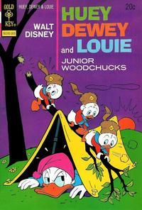 Cover Thumbnail for Walt Disney Huey, Dewey and Louie Junior Woodchucks (Western, 1966 series) #22 [Gold Key]