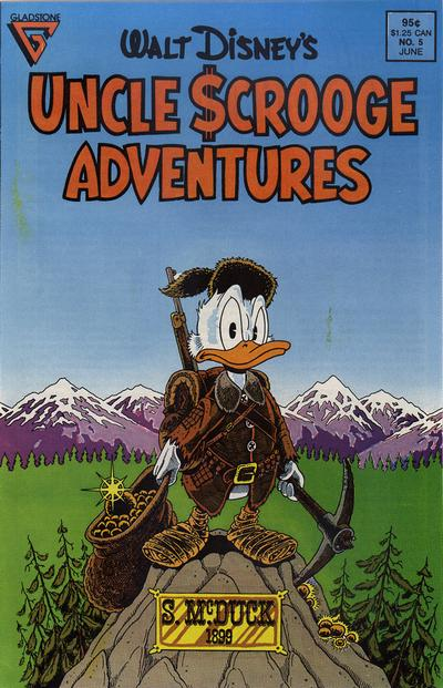 Cover for Walt Disney's Uncle Scrooge Adventures (Gladstone, 1987 series) #5