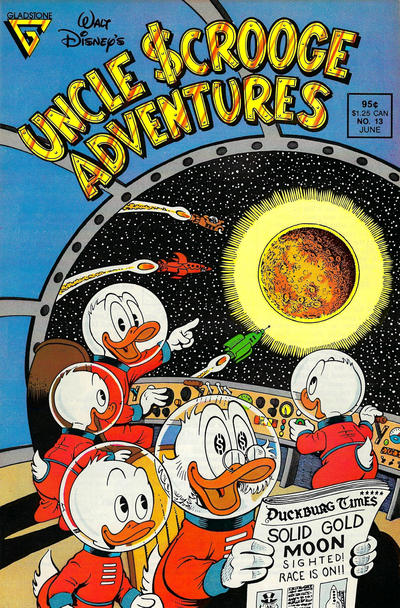 Cover for Walt Disney's Uncle Scrooge Adventures (Gladstone, 1987 series) #13