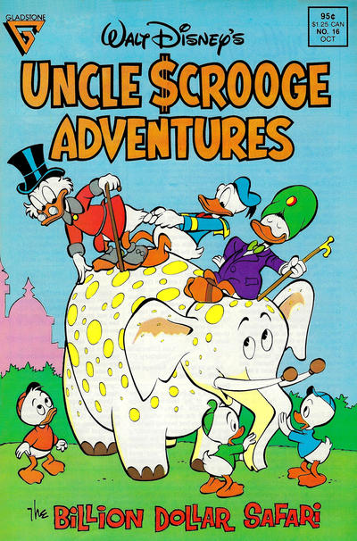 Cover for Walt Disney's Uncle Scrooge Adventures (Gladstone, 1987 series) #16