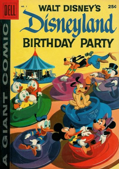 Cover for Disneyland Birthday Party (Dell, 1958 series) #1