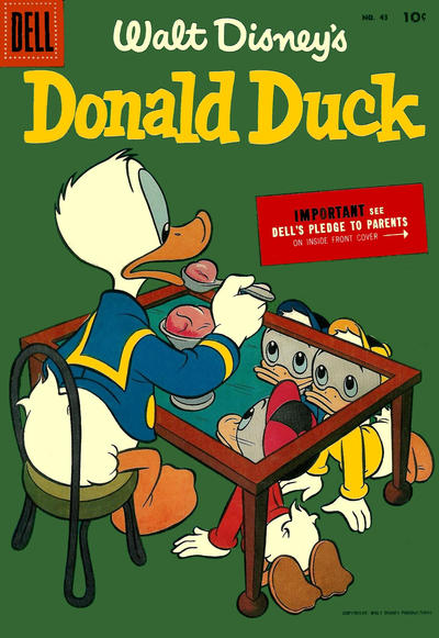 Cover for Donald Duck (Dell, 1952 series) #43