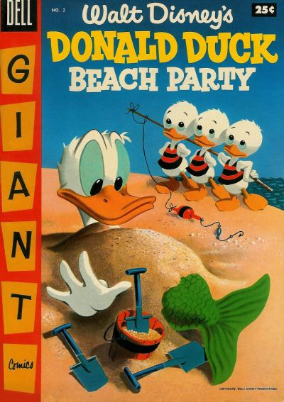 Cover for Walt Disney's Donald Duck Beach Party (Dell, 1954 series) #2