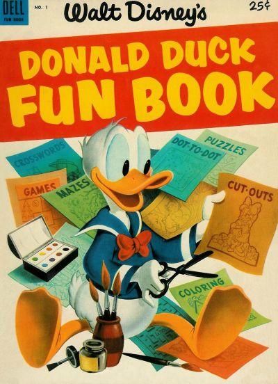 Cover for Donald Duck Fun Book (Dell, 1953 series) #1