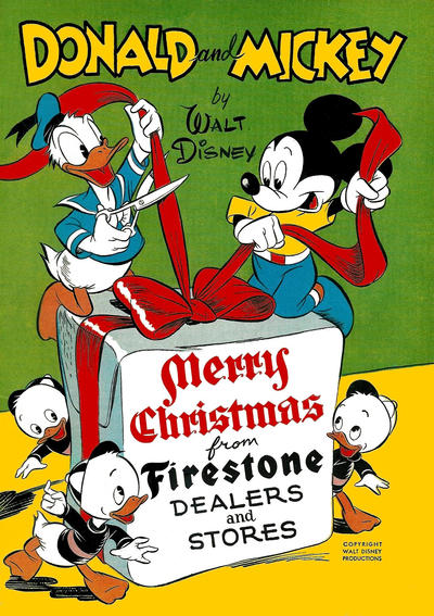 Cover for Donald and Mickey Merry Christmas (Dell, 1943 series) #1947