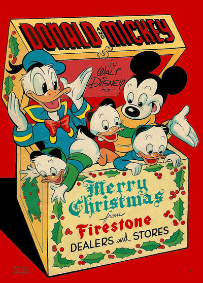 Cover for Donald and Mickey Merry Christmas (Dell, 1943 series) #1949