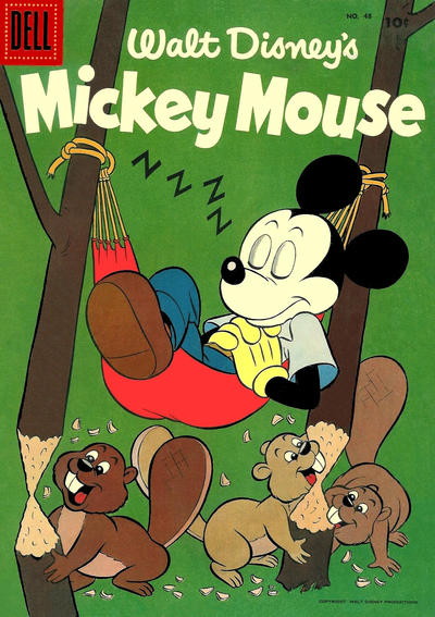 Cover for Mickey Mouse (Dell, 1952 series) #48