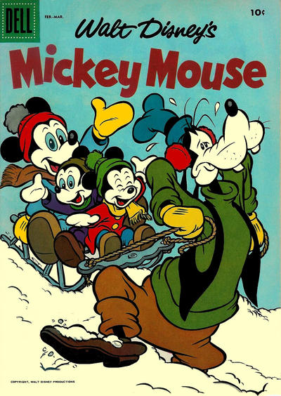 Cover for Mickey Mouse (Dell, 1952 series) #52