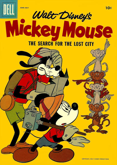 Cover for Mickey Mouse (Dell, 1952 series) #54