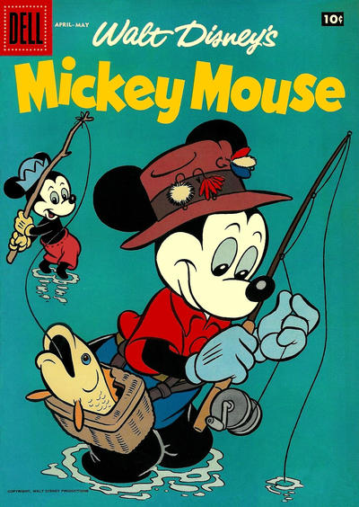 Cover for Mickey Mouse (Dell, 1952 series) #[59] [15¢ edition]