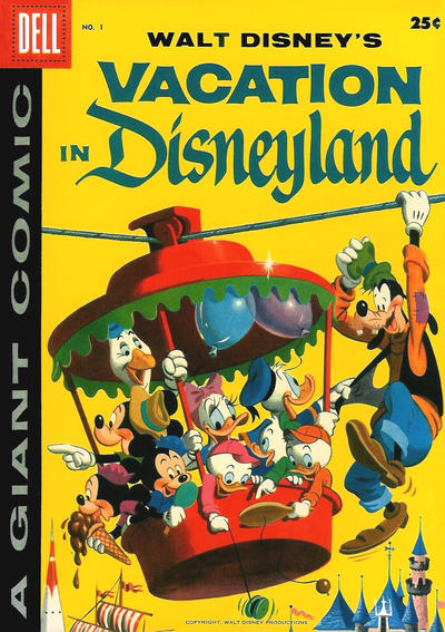 Cover for Walt Disney's Vacation in Disneyland (Dell, 1958 series) #1