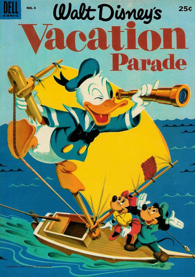 Cover for Walt Disney's Vacation Parade (Dell, 1950 series) #4 [35¢ edition]