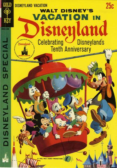 Cover for Walt Disney's Vacation in Disneyland (Western, 1965 series) #1