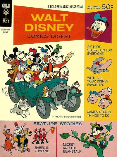 Cover for Walt Disney Comics Digest (Western, 1968 series) #1