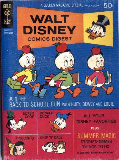 Cover for Walt Disney Comics Digest (Western, 1968 series) #15