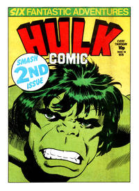 Cover Thumbnail for Hulk Comic (Marvel UK, 1979 series) #2