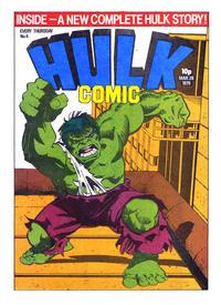Cover Thumbnail for Hulk Comic (Marvel UK, 1979 series) #4