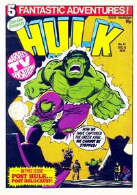 Cover Thumbnail for Hulk Comic (Marvel UK, 1979 series) #41