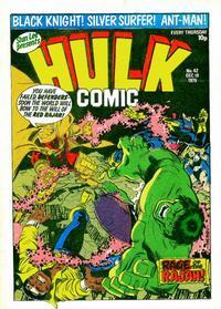 Cover Thumbnail for Hulk Comic (Marvel UK, 1979 series) #42