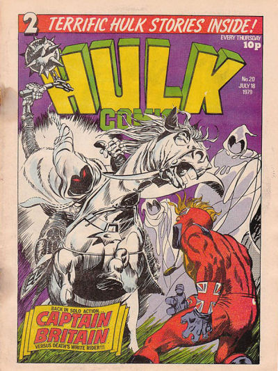 Cover for Hulk Comic (Marvel UK, 1979 series) #20