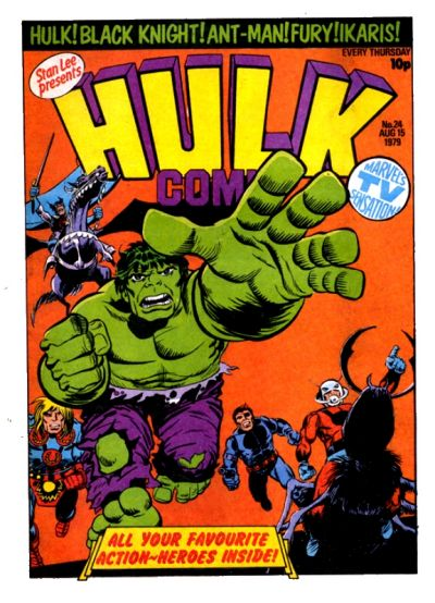 Cover for Hulk Comic (Marvel UK, 1979 series) #24